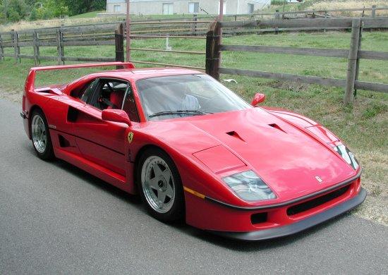 1992 Ferrari F40 Rosso Corsa Front
