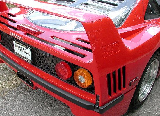 1992 Ferrari F40 Rosso Corsa rear