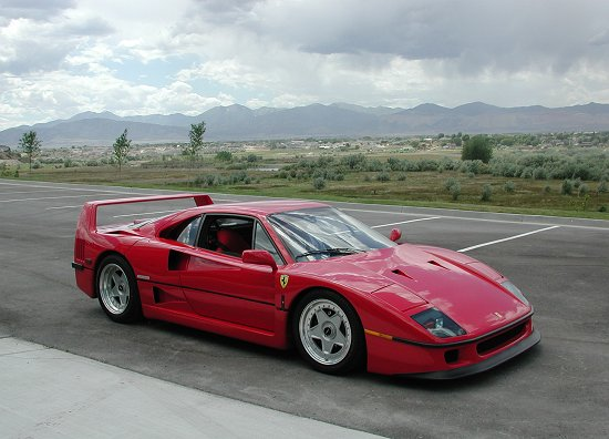 1992 Ferrari F40 Rosso Corsa on the track