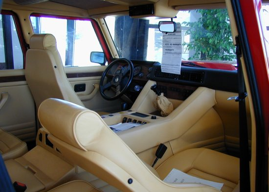1990 Lamborghini LM002 American interior