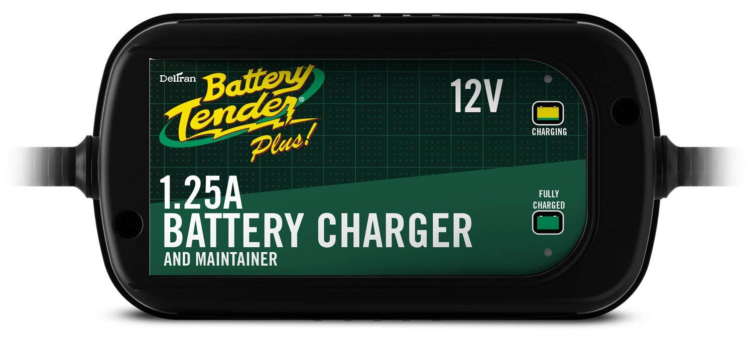 Battery Tender 022-0185G-dl-wh Black 12 Volt 1.25 Amp Plus Battery Charger and Maintainer