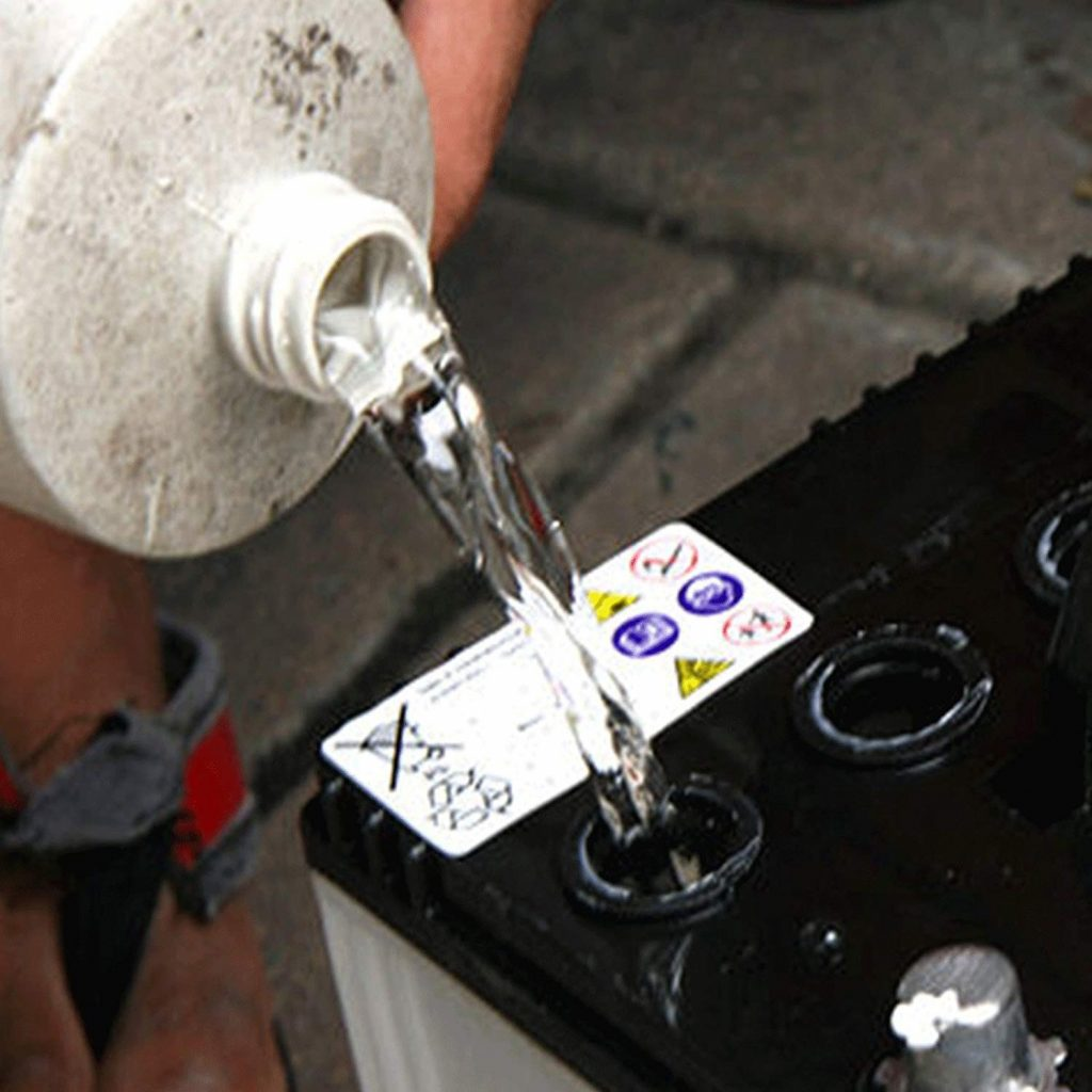 Distilled water for car battery