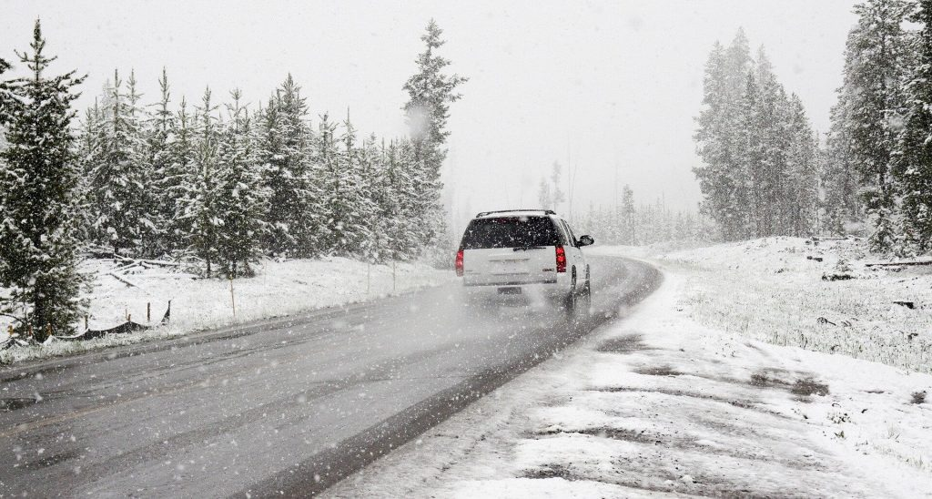 Snowy road conditions